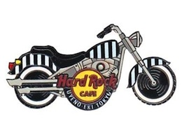 Starter Pin Series #4 - Black & White Striped Motorcycle | Pins & Badges
