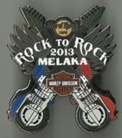 Rock to Rock 2013 Harley-Davidson Motorcycle Run pin   Pins & Badges