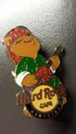 Hard Rock Cafe Pin Hyderabad Christmas Bear With Staff Stocking Cap | Pins & Badges