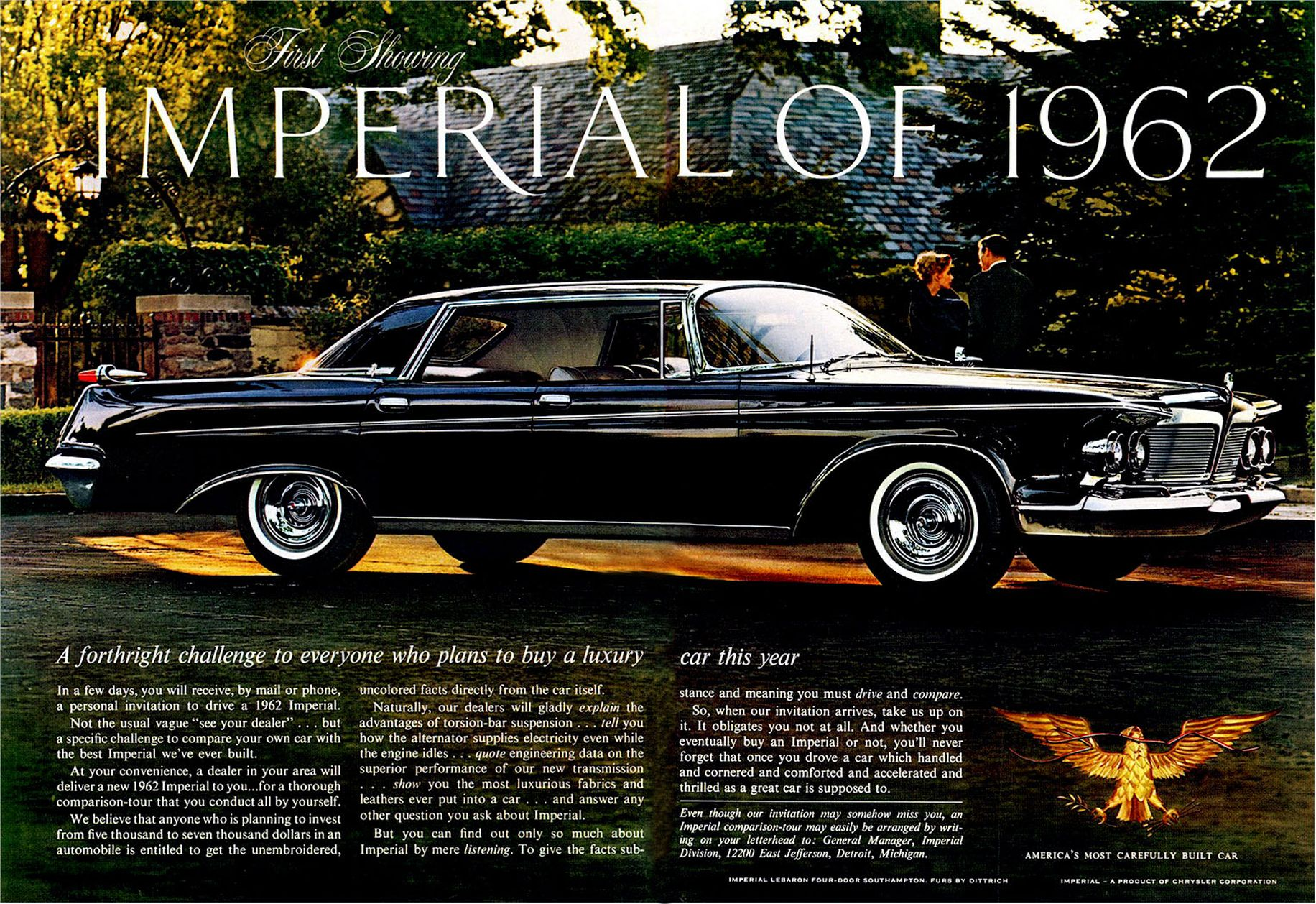 List Of Car Brands >> First Showing Imperial Of 1962 | Print Ads | hobbyDB
