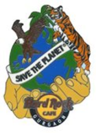 Save The Planet - Globe With Hands & Animals | Pins & Badges