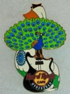 Hard Rock Hyderabad Peacock Flag Guitar Pin | Pins & Badges