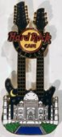 Twin neck guitar with taj mahal  with night background pins and badges fbc93c38 4a76 4819 9a96 3e13cb565797 medium