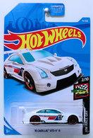 '16 Cadillac ATS-V R | Model Racing Cars | HW 2019 - Collector # 075/250 - HW Race Day 2/10 - '16 Cadillac ATS-V R - White - USA Card