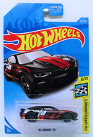 '16 Camaro SS | Model Cars | HW 2019 - Collector # 082/250 - HW Speed Graphics 6/10 - '16 Camaro SS - Black - USA Card
