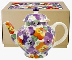 Purple Pansy 4 Mug Teapot - Emma Bridgewater | Ceramics | Purple Pansy 4 Mug Teapot
