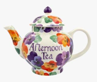 Purple Pansy 4 Mug Teapot Personalised - Emma Bridgewater | Ceramics | Purple Pansy Personalised 4 Mug Teapot