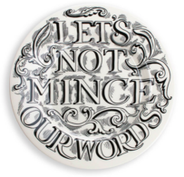"""Feasting Let's Not Mince 8 1/2"""" Plate - Emma Bridgewater 