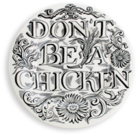 "Feasting Don't Be A Chicken 8 1/2"" Plate - Emma Bridgewater 