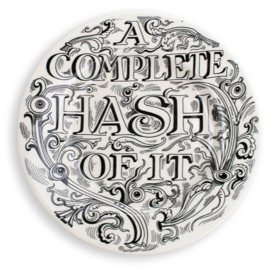 "Feasting A Complete Hash 8 1/2"" Plate - Emma Bridgewater 