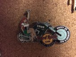 Red Haired Girl on Motorcycle | Pins & Badges