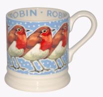 Robin In A Snowstorm 1/2 Pint Mug - Emma Bridgewater | Ceramics | Robin in a Snowstorm Mug