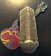Guitar with mola bird design and old panama ruins tower pins and badges 0be06bc7 9d1b 4bea 893d 3597e799a017 medium