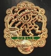 3D Filigree Leprechaun   Pins & Badges
