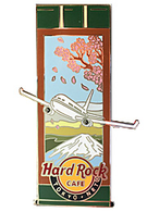 Japanese Scroll with Airplane & Mt. Fuji | Pins & Badges