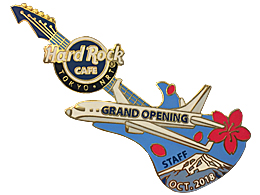 Grand Opening Staff - Blue Guitar with Airplane | Pins & Badges