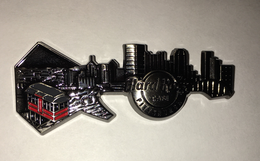 3-D Skyline Guitar Series | Pins & Badges