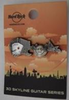 3D Skyline Guitar | Pins & Badges