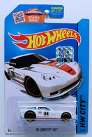 '09 Corvette ZR1  | Model Cars | HW 2015 - Collector # 012/250 - HW City / Performance - '09 Corvette ZR1 - White - USA Card with Factory Sticker