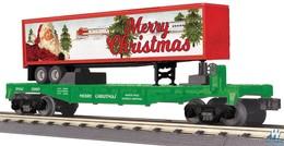 Flatcar w%252f40%2527 trailer   3 rail   rail king   christmas model vehicle sets 1664b1ad 0019 4ae1 a847 d1de49e20025 medium