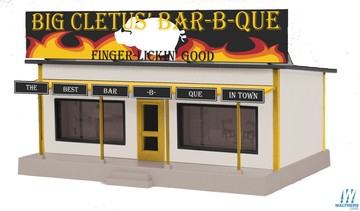 Rail King Road Side Stand -- Big Cletus' Bar-B-Que   Model Buildings and Structures