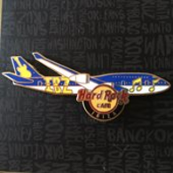 Aircraft with musical notes and guitar | Pins & Badges