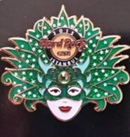 Regional Carnival Mask Series - Green | Pins & Badges