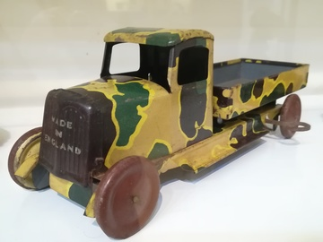 Wells Brimtoy Tinplate Army Lorry | Tinplate & Pressed Steel Toys | Wells Brimtoy 1940's Army Truck