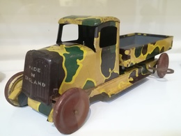 Wells Brimtoy Tinplate Army Lorry   Tinplate & Pressed Steel Toys   Wells Brimtoy 1940's Army Truck