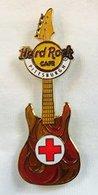 Red Cross Guitar | Pins & Badges