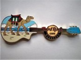 Camel on the Beach Guitar - Version 1   Pins & Badges