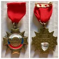 Medal with red ribbon | Pins & Badges