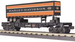 O gauge rail king flat car w%252f40%2527 trailer harley davidson model trains %2528rolling stock%2529 151a59a5 029e 466b b49d c3782600bb8a medium