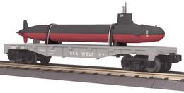 O gauge rail king flat car w%252fsubmarine navy model trains %2528rolling stock%2529 84942d0c 7366 427c 807b 7a125f2586dd medium