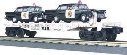 O gauge rail king flat car   mth auto transportation w%252f%25282%2529 1957 ford police cars model trains %2528rolling stock%2529 73f3ad9b 3682 4869 b712 9c91cf2eeab5 medium