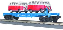 O gauge rail king conrail flat car   w%252f%25282%2529 vw buses car no.%253a 7604 model trains %2528rolling stock%2529 822b31c4 e3bc 47db 817b b8f01d15f754 medium