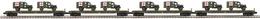 O Scale Premier 4-Car Flat Car W/(2) Dodge WC-54 Ambulances U.S. Army   Model Train Sets