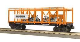 O gauge rail king harley davidson flat car w%252f%25284%2529 2004 v rod motorcycles   harley davidson car no. 852002 model trains %2528rolling stock%2529 2c606748 b5af 465e 99dc bd4bc2961514 medium