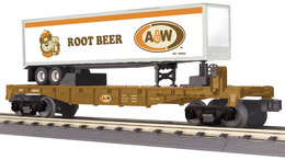 O gauge rail king a and w root beer flat car 196022 w%252f40%2527 trailer model trains %2528rolling stock%2529 398aa62b 8220 4e9e 8432 9c9de5de78cc medium