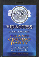 Grand Opening Party Hard Rock Cafe Cologne | Event Passes & Tickets
