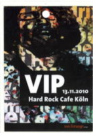 Hard Rock Cafe Cologne VIP 2010 | Event Passes & Tickets