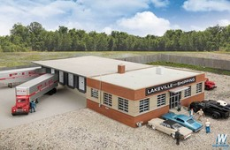Cross-Dock Truck Facility Kit | Model Building and Structure Kits
