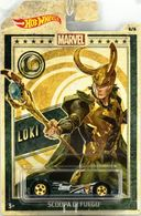 Scoopa DI Fuego | Model Cars | 2019 Hot Wheels Marvel Characters Loki Scoopa Di Fuego Dark Green