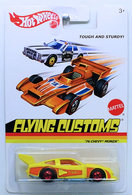 '76 Chevy Monza | Model Cars | HW 2013 - Flying Customs # X8189 - '76 Chevy Monza - Yellow - Red BW Wheels - Metal/Metal