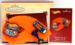 Deora II and Sweet 16 II | Christmas & Holiday Ornaments | Hallmark Keepsakes Hot Wheels 35th Anniversary Deora II and Sweet 16 II
