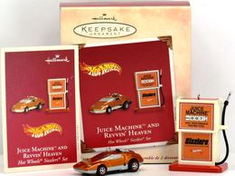 Juice Machine and Revvin' Heaven | Christmas & Holiday Ornaments | Hallmark Keepsake Hot Wheels Juice Machine and Revvin Heaven