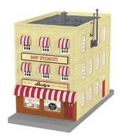 3-Story City Building W/Fire Escape & Blinking Sign Isaly's | Model Buildings and Structures