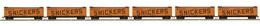 HO Scale MTH HO 6-Car R40-2 Reefer Set Mars-Snickers | Model Train Sets