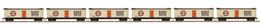 HO Scale MTH HO 6-Car R40-2 Reefer Set DPSU - A&W Root Beer | Model Train Sets