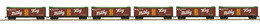 HO Scale MTH HO 6-Car R40-2 Reefer Set Mars - Milky Way | Model Train Sets
